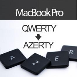 Convertir Clavier MacBook Pro UniBody en AZERTY