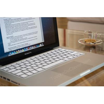 Protection Clavier Blanche MacBook Pro Unibody 13 15 17 Pouces